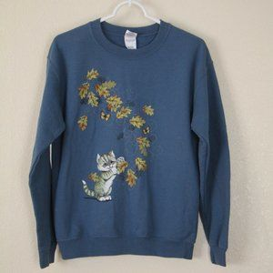 Playful Kitten Crewneck Sweatshirt, S